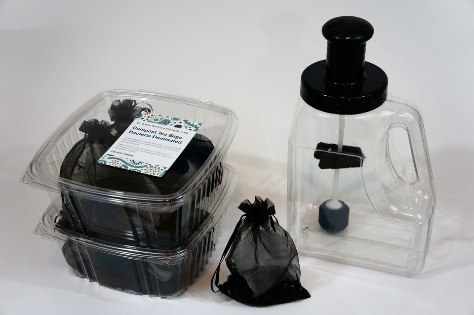 Complete Compost Tea Brewing Kit + 24 bags
